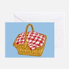 Picnic Basket Graphic Greeting Cards