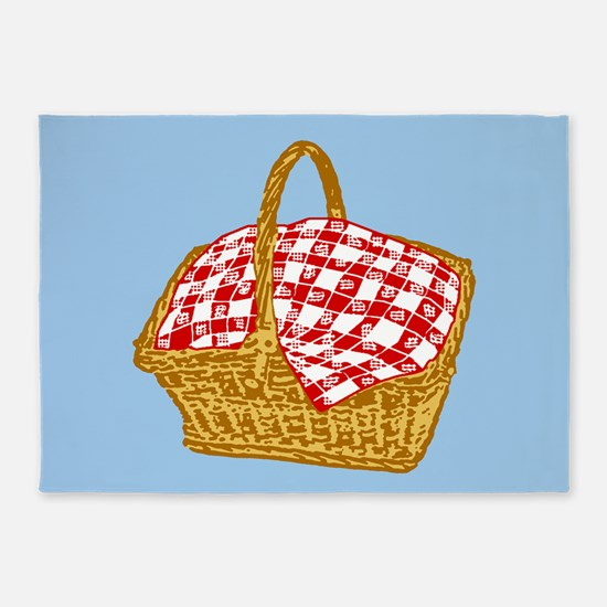 Picnic Basket Graphic 5'x7'Area Rug