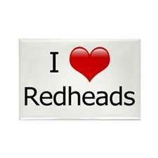 I Love Redheads Rectangle Magnet