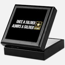 U.S. Army: Once a Soldier Always a So Keepsake Box