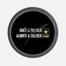 U.S. Army: Once a Soldier Always a Sold Wall Clock