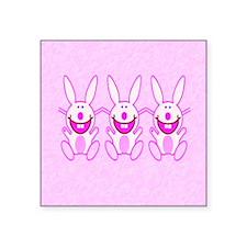 "3 Bunnies Square Sticker 3"" x 3"""
