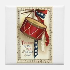 Vintage 4th of July Tile Coaster