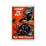 Stamp Out Snakes Rectangle Magnet (10 pack)