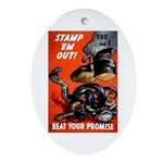 Stamp Out Snakes Oval Ornament