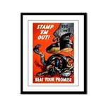 Stamp Out Snakes Framed Panel Print