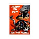 Stamp Out Snakes Mini Poster Print