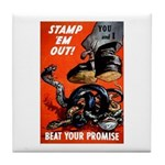 Stamp Out Snakes Tile Coaster