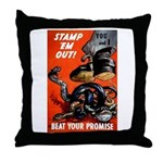 Stamp Out Snakes Throw Pillow
