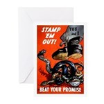 Stamp Out Snakes Greeting Cards (Pk of 10)