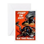 Stamp Out Snakes Greeting Card