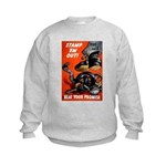 Stamp Out Snakes (Front) Kids Sweatshirt