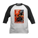 Stamp Out Snakes Kids Baseball Jersey