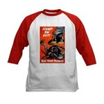 Stamp Out Snakes (Front) Kids Baseball Jersey
