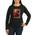 Stamp Out Snakes (Front) Women's Long Sleeve Dark