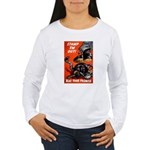 Stamp Out Snakes (Front) Women's Long Sleeve T-Shi