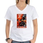 Stamp Out Snakes (Front) Women's V-Neck T-Shirt