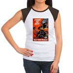 Stamp Out Snakes (Front) Women's Cap Sleeve T-Shir
