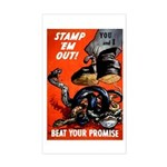 Stamp Out Snakes Rectangle Sticker