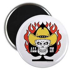 Cowboy Skull Texas Hold'em Poker Magnet
