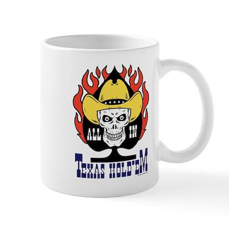 Cowboy Skull Texas Hold'em Poker Mug