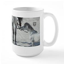 Stallion Whispering to Mini Horse Mugs