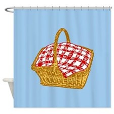 Picnic Basket Graphic Shower Curtain