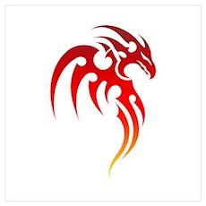 Rising Phoenix Tribal Symbol Poster