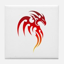 Rising Phoenix Tribal Symbol Tile Coaster