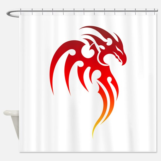 Rising Phoenix Tribal Symbol Shower Curtain