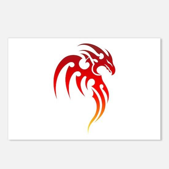Rising Phoenix Tribal Sym Postcards (Package of 8)