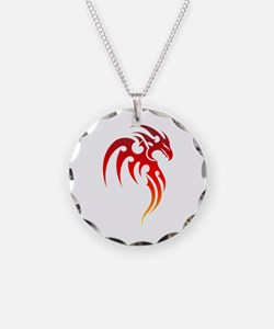 Rising Phoenix Tribal Symbol Necklace