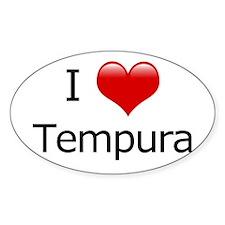 I Love Tempura Oval Decal
