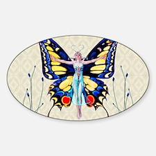 Art Deco Sensual B'fly Flapper Decal