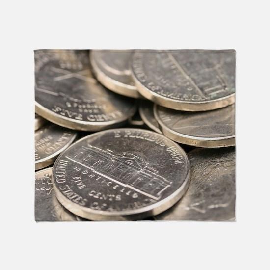 Cute Coins Throw Blanket