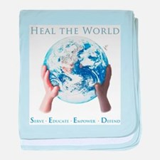 HEAL THE WORLD baby blanket
