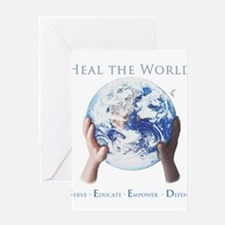 HEAL THE WORLD Greeting Cards