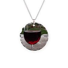 Unique Red wine Necklace