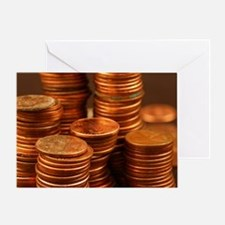 Cool Coins Greeting Card