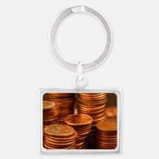 Funny Coins Landscape Keychain