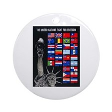 United Nations Freedom Ornament (Round)