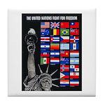 United Nations Freedom Tile Coaster