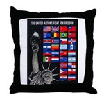 United Nations Freedom Throw Pillow