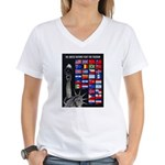 United Nations Freedom (Front) Women's V-Neck T-Sh