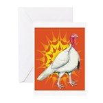 Sunburst White Turkey Greeting Cards (Pk of 20)