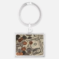 Cute Coins Landscape Keychain