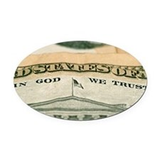 God we trust Oval Car Magnet