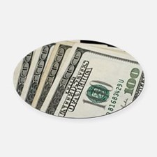 Cute Money Oval Car Magnet