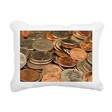 Cute Coin Rectangular Canvas Pillow