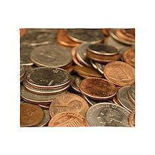 Cute Coin Throw Blanket